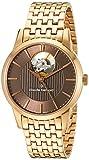 Image of Claude Bernard Women's 85018 37RM BRIR Automatic Open Heart Analog Display Swiss Automatic Rose Gold Watch