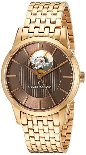 Claude-Bernard-Womens-85018-37RM-BRIR-Automatic-Open-Heart-Analog-Display-Swiss-Automatic-Rose-Gold-Watch
