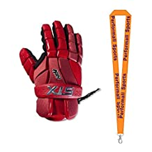 STX Bundle: K-18 Lacrosse Gloves + 1 Performall Sports Lanyard