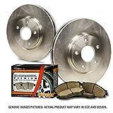 (Rear Rotors + Ceramic Pads)-(Fits:-2008 08 2009 09 2010 10 2011 11 Dodge Grand Caravan)