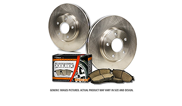 2 OEM Replacement Extra-Life Heavy Duty Brake Rotors -Combo Brake Kit- SHIPS FROM USA!!-Tax Incl. 4 Ceramic Pads 850 C70 S70 V70 5lug Front Kit