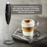 Zulay Milk Frother Handheld Foam Maker for Lattes - Great Electric Whisk Drink Mixer for Bulletproof® Coffee, Mini Blender and Foamer Perfect for Cappuccino, Frappe, Matcha, Hot Chocolate, Classic Milk Boss - Christmas Edition