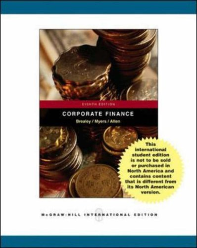 Principles of Corporate Finance With Student Cd, Ethics in Finance Powerweb and Standard and Poor