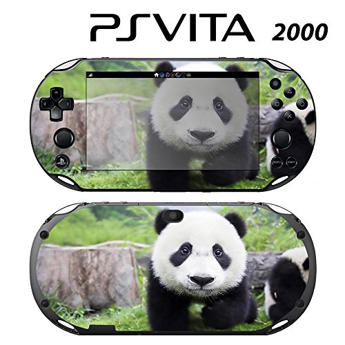 Decorative Video Game Skin Decal Cover Sticker for Sony PlayStation PS Vita Slim (PCH-2000) - Cute Panda -  Decals Plus, PV2-AN09