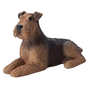 Sandicast Small Size Airedale Terrier Sculpture, Lying 29