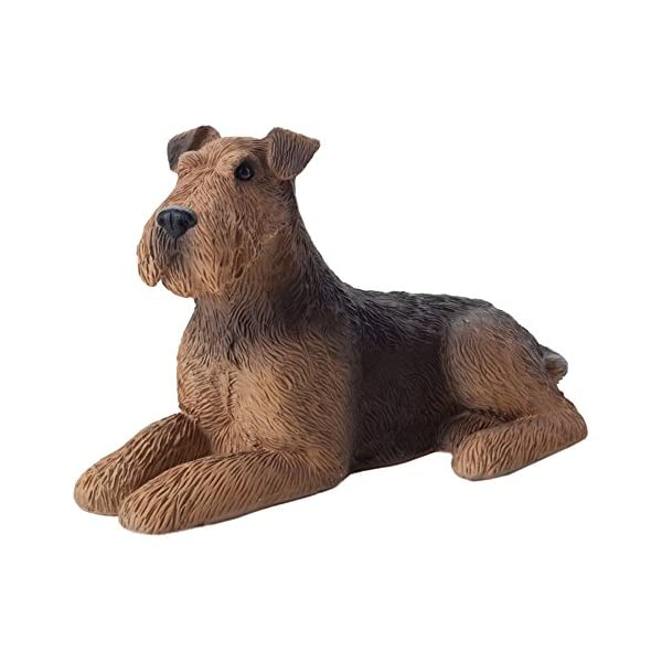 Sandicast Small Size Airedale Terrier Sculpture, Lying 1