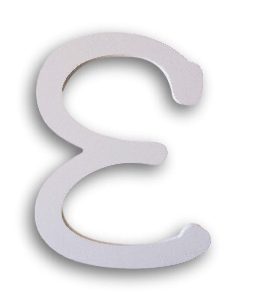 Dariceホワイト木製文字、E、9-inch   B06WGSGPQC