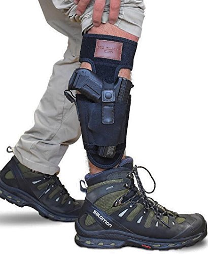 Don William Ankle holster for Concealed Carry with two strap design | Universal size holster & band | left and right hand draw by Don William