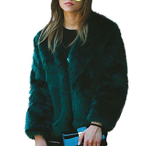 V-Neck Womens Fur Coat - 1