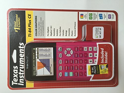 TEXAS INSTRUMENTS TI-84 PLUS CE DUMMIES INCLUDED PINK by Texas Instruments
