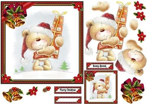 Merry Christmas Barnaby Bear di Karen Wyeth Craftsuprint