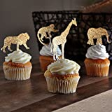 Jungle Baby Shower Decorations. Jungle Animal Cupcake Toppers 12CT.
