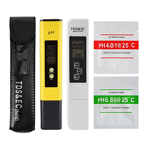 XCSOURCE Professional TDS EC Tester pH Meter Digital Temp PPM Check Water Quality Purity for Filter Pool Aquarium Hydroponic BI669 by XCSOURCE