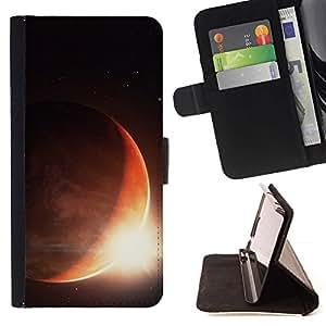 Momo Phone Case / Flip Funda de Cuero Case Cover - Sun Planet Eclipse Rise Red Planet Space Tierra - LG G4