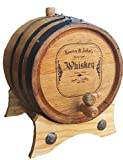 Personalized - Custom American White Oak Aging Barrel - Barrel Aged Whiskey (1 Liter)