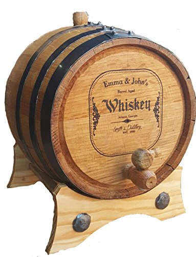 Personalized - Custom American White Oak Aging Barrel - Barrel Aged Whiskey (1 Liter) by Sofia's Findings