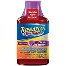 Theraflu ExpressMax Syrup for Flu, Cough and Sore Throat, Berry Cough Syrup (8.3 ounces)