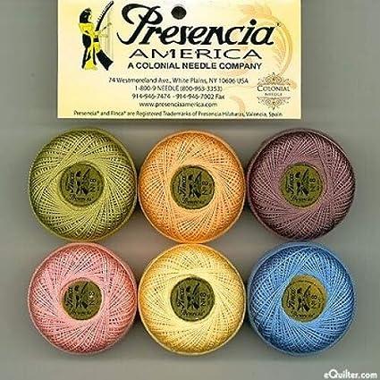 - for sashiko and quilting embroidery CRAYON Collection 10 gram Presencia Finca Perle Cotton Thread Sampler Pack Size 5