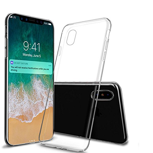 new products e2bd4 cf441 Amazon.com: ANLEY Invisible Armor Case for iPhone X, [Extreme ...