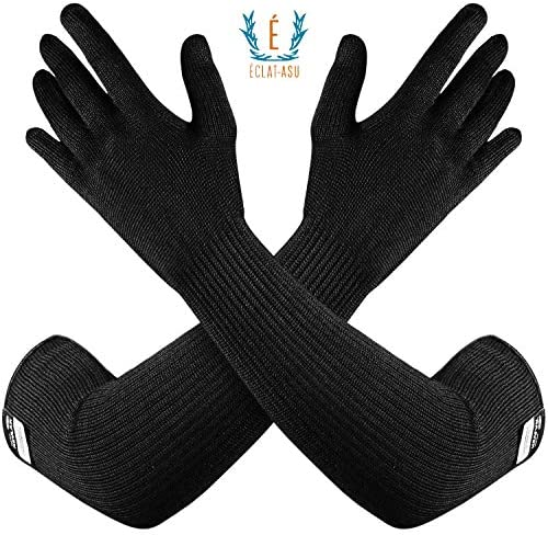 100% Kevlar Gloves with Sleeves by Dupont- Anti Sc
