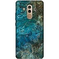 Cupcase® Huawei Mate 10 Pro Kılıf Telefon Esnek Baskılı Silikon Kapak TPU Case - Mavi Mermer - Kod3018