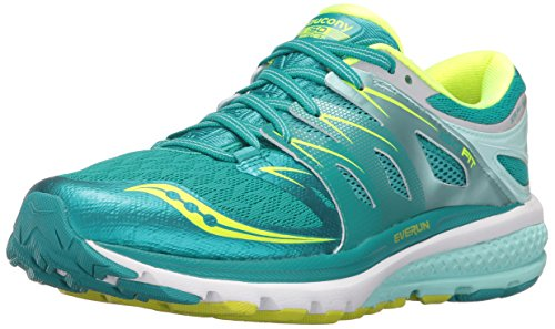 Saucony Women's Zealot Iso 2 Running Shoe, Tea/Cotton, 6 M US