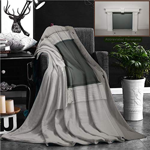 """Nalagoo Unique Custom Flannel Blankets Fireplace Mantel Or Mantelpiece Super Soft Blanketry for Bed Couch, Throw Blanket 60"""" x 50"""" by Nalagoo"""