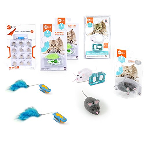 HEXBUG Deluxe Nano Cat Toy Pack Plus Remote Control