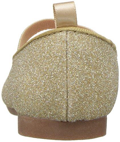 OshKosh B'Gosh Girls' Meow Glitter Cat Ballet Flat, Gold, 7 M US Toddler - Image 2