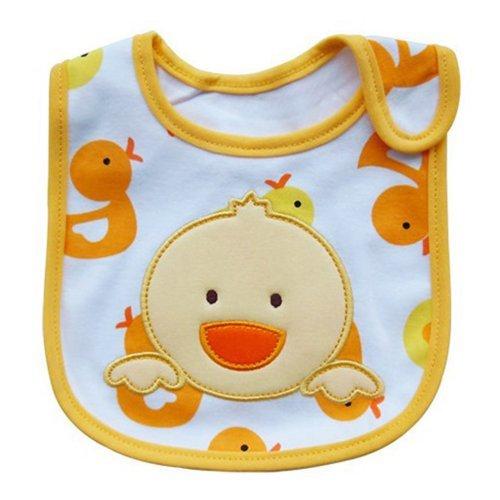 (Cute Cartoon Pattern 3 Layer Toddler Baby Waterproof Saliva Towel Baby Bibs (Chick Pattern))