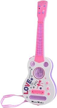 Foxom Guitarra para Niños, 4 Cuerdas Destello Mini Guitarra ...