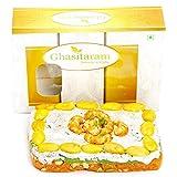 Ghasitaram Gifts Orange Dryfruit Mithai Cake
