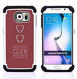 For Samsung Galaxy S6 G9200 - love you go glen brown minimalist heart Dual Layer caso de Shell HUELGA Impacto pata de cabra con im????genes gr????ficas Steam - Funny Shop -