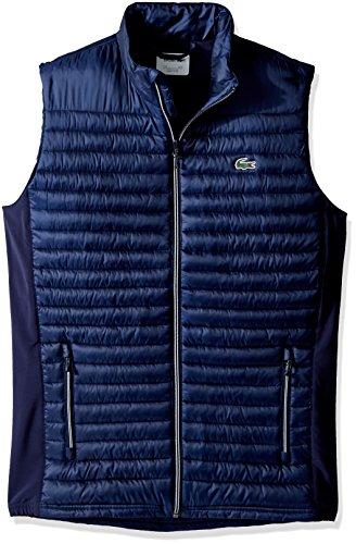 Lacoste Men's Golf Lifestyle Sport Golf Ripstop Vest, Navy Blue/Navy Blue, 54