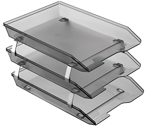 Acrimet Facility 3 Tiers Triple Letter Tray Frontal (Smoke Color)