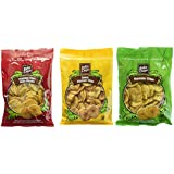 Inka Chips Gluten Free Plantain Chips 3 Flavor 6 Bag Variety Bundle: (2) Inka Chips Sweet Plantain Chips, (2) Inka Chips Original Plantain Chips, and (2) Inka Chips Chili Picante Plantain Chips, 3.25-4 Oz. Ea. (6 Bags Total)