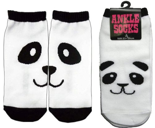 Panda Bear Ankle Socks - 2 Pairs (Size 8-10 inches)
