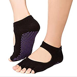 1 pair Yoga Socks Antibacterial Non Slip Yoga Yoga Socks Ladies Unisex Massage Correction Hallux Valgus