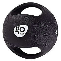 Goplus Dual Grip Medicine Ball for Fitness Weighted Balance Plyometric Training Muscle Build
