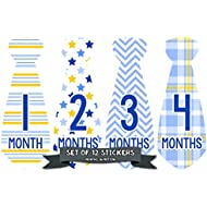Months in Motion 745 Monthly Baby Stickers Necktie Tie...