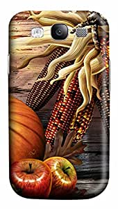 Samsung Galaxy S3 I9300 Case,Samsung Galaxy S3 I9300 Cases - Thanksgiving Day 4 PC Polycarbonate Hard Case Back Cover for Samsung Galaxy S3 I9300