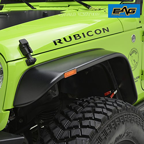 Eag 07 18 Jeep Wrangler Jk Fender Flares Set Of 4 With Led