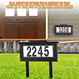 Lighted House Numbers Address Sign - Solar Lighted
