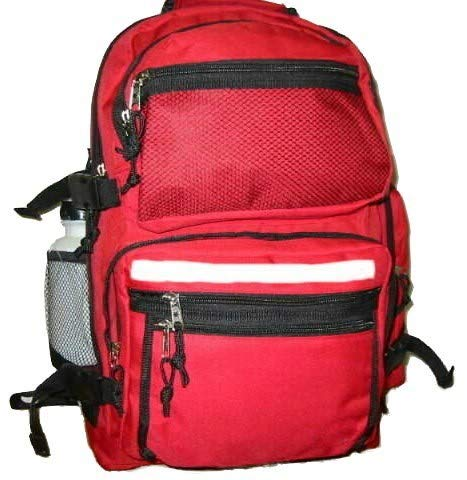 703099 - 19'' Large Backpack School Bag w/Bottle - Red Case Pack 12 from D&D