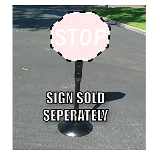 Posts Portable Sign (20-Pound Movable Cast-Iron Sign Post, Base, and Hardware)