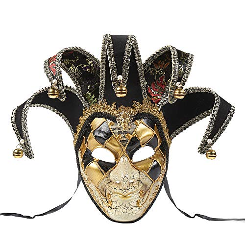 This Is Halloween Ringtone (BLEVET Vintage Unisex Venetian Harlequin Eye mask Party Halloween Costume Mardi Gras Mask BK005)