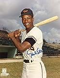 Autographed Paul Blair Photo - W Bat 8x10 W coa - Autographed MLB Photos