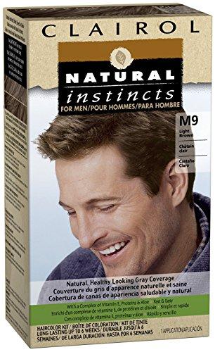 - Clairol Natural Instincts for Men Hair Color, Light Brown (M9)