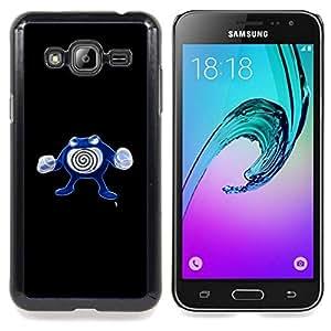 GIFT CHOICE / Teléfono Estuche protector Duro Cáscara Funda Cubierta Caso / Hard Case for Samsung Galaxy J3 GSM-J300 // Poliwhirl P0Kemon //