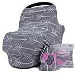 Breastfeeding Nursing Cover - Baby Car Seat Cover for Girls and Boys